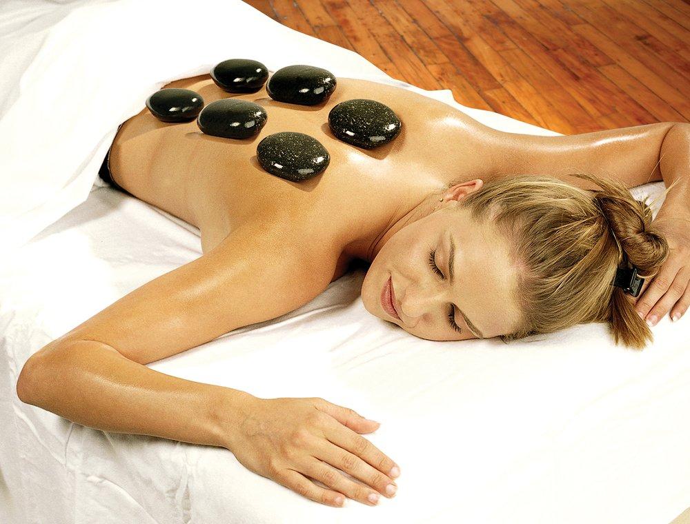 массаж камнями